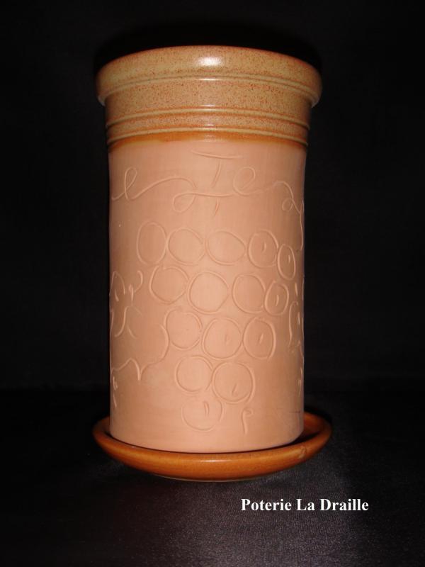 Brique a vin couleur terre poterie la draille