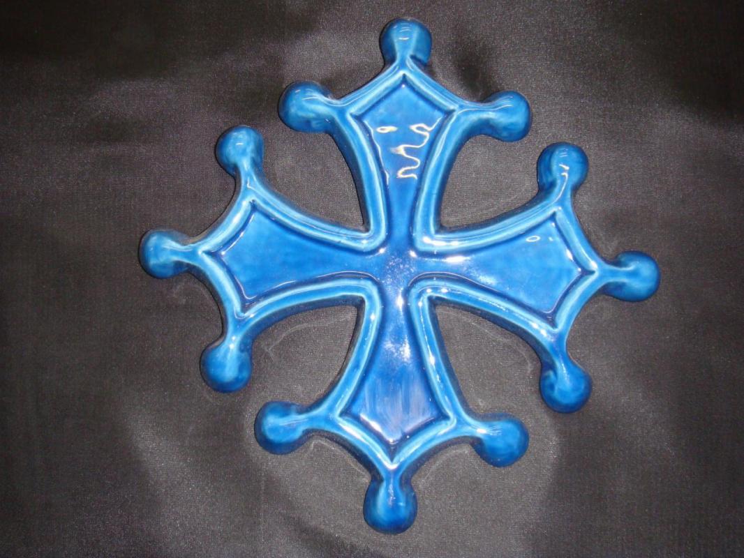 croix-occitane-bleu  (POTERIE la DRAILLE)