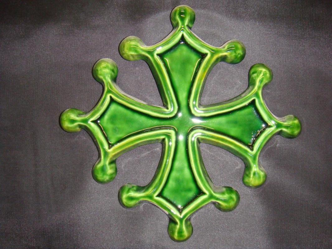 croix-occitane-verte  (POTERIE la DRAILLE)