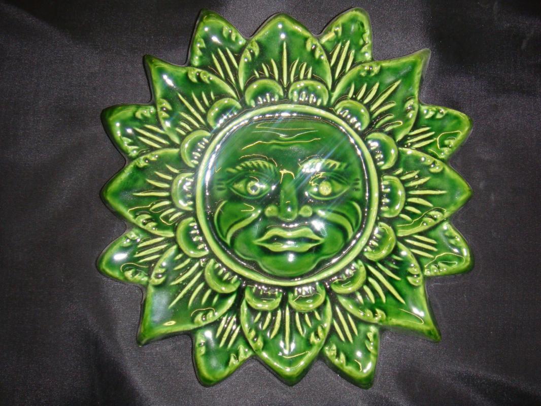 Soleil Provençal vert POTERIE LA DRAILLE
