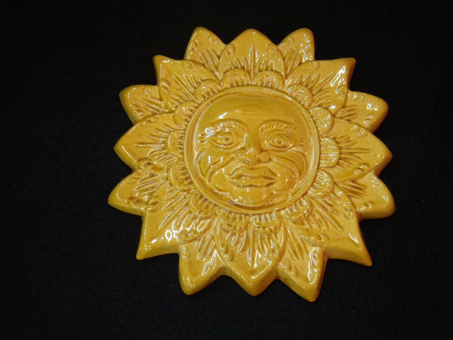 Pt soleil jaune poterie la draille