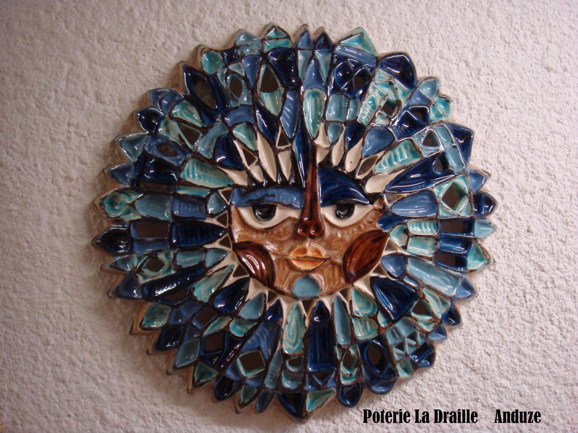 Soleil bleu poterie la draille